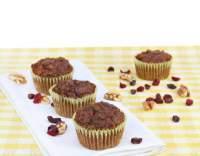 Brusinkovo-ořechové muffiny
