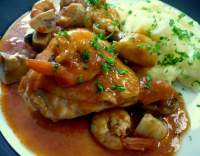 Kuře Marengo s krevetami