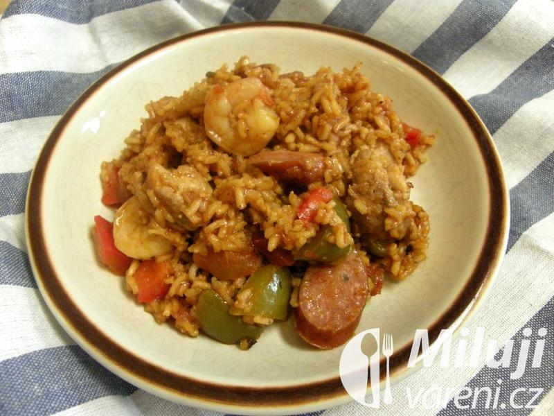 Jambalaya s kuřecím masem