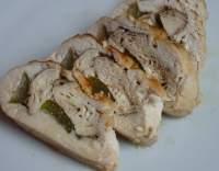 Kuřecí roláda plněná uzeným šmakounem a řapíkatým celerem