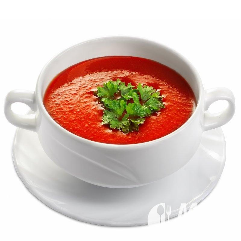 Tomatová polévka s conchiglie