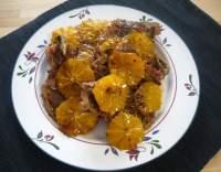 Pečené vepřové kotlety na pomerančích