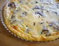 Houbová pizza z listového těsta