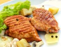Kuřecí řízek s bramborovou kaší