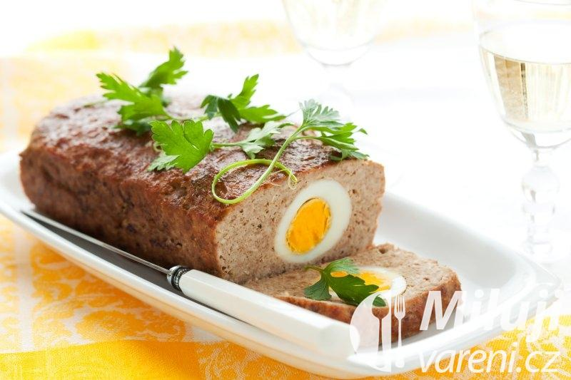 Sekaná s houbami a vejci