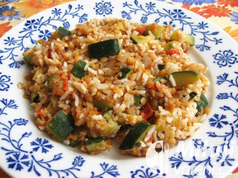 Rýže s čočkou a zeleninou