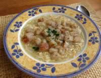 Cibulová polévka s vejci