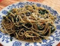 Špagety se špenátem