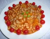 Vepřové s rajčátky a fazolemi