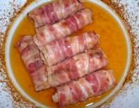 Krůtí roládky v anglické slanině