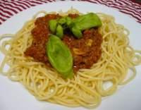 Boloňské špagety s hovězím masem a rajčaty