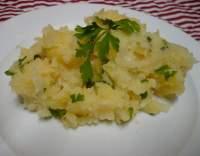 Šťouchané brambory s petrželkou