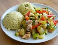 Kuřecí prsa s cuketou a rýží