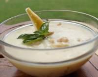 Hruškový salát s vanilkovým krémem