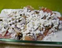 Kuřecí plátek zapečený s houbami