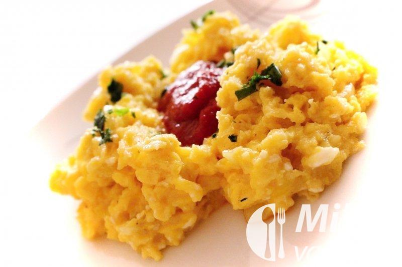 Míchaná vejce z italské kuchyně