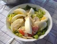 Velikonoční vajíčkový salát se žampiony