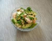 Avokádový salát s krevetami