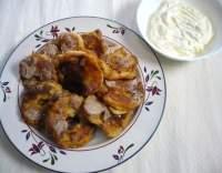 Bavorské jablečné koláčky s vanilkovou šlehačkou