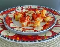 Květák zapečený s česnekem a sýrem