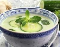 Okurková ledová polévka