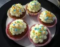 Kakaové cupcakes s krémem z mascarpone