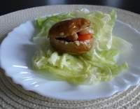 Pečené brambory se sýrovou náplní