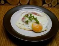 Šunka zapečená s vejci