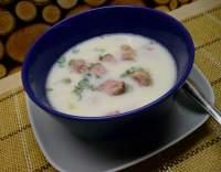 Mléčná uzená polévka