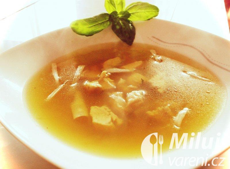 Kuřecí polévka s pórkem