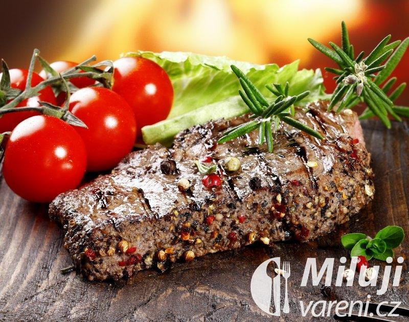 Steak s pepřem