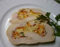Roláda z kuřecích prsou plněná vejci se zeleninou