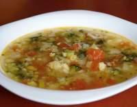 Zeleninová polévka s rajčaty