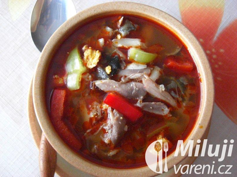 Halaszlé - maďarská kapří polévka