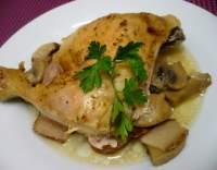 Hostýnské kuře s hříbky