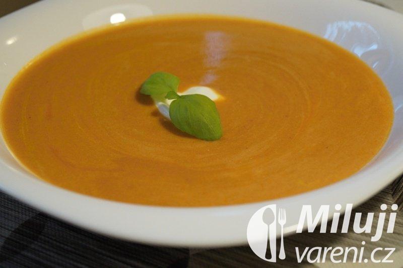 Rajská polévka se smetanou