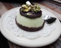 Pistáciové mousse dortíky