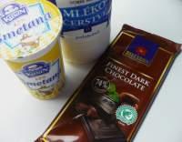 Čokoládová poleva se smetanou