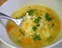 Polévka ze strouhané zeleniny