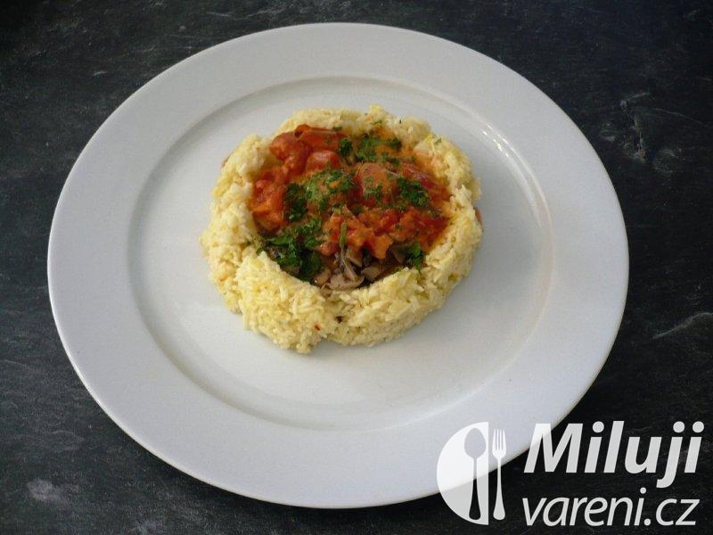 Šafránové rizoto s houbami