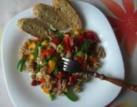 Paprikový salát tří barev