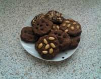 Čokoládové cookies s pomerančem a vlašskými ořechy