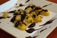 Pečené banány s čokoládou