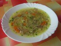 Slepice v nudlové polévce
