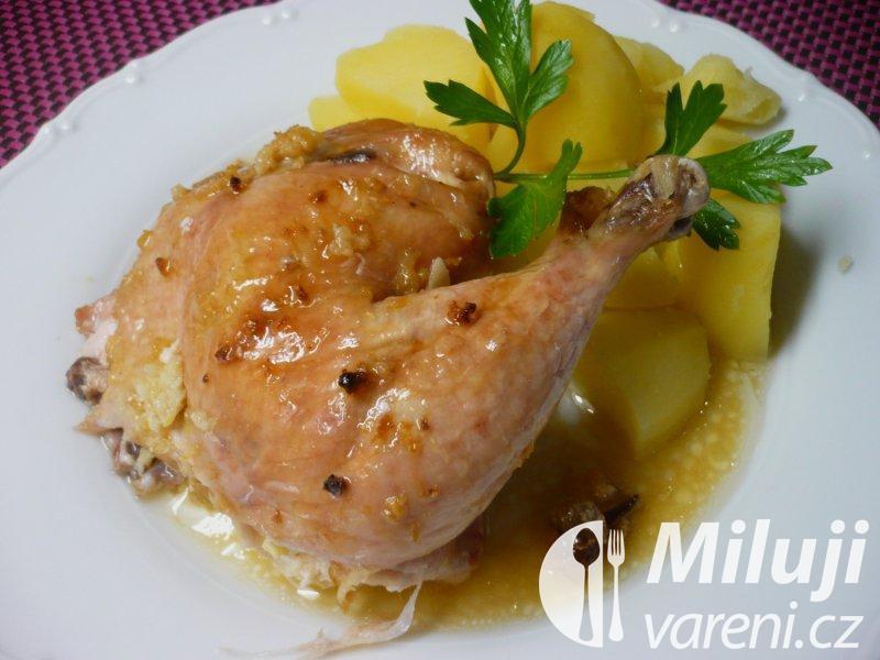 Kuře pečené na česneku