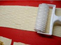 Mřížkové taštičky z listového těsta