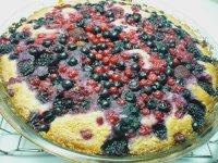 Jogurtový koláč s lesním ovocem