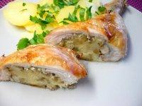Pečená kuřecí stehna s nádivkou