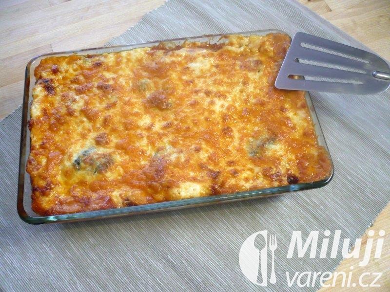 Houbové lasagne s čedarem