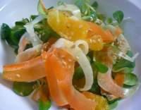 Mrkvovo-pomerančový salát s fenyklem